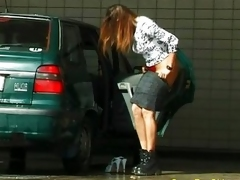 car peeing