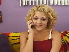 blonde dildo